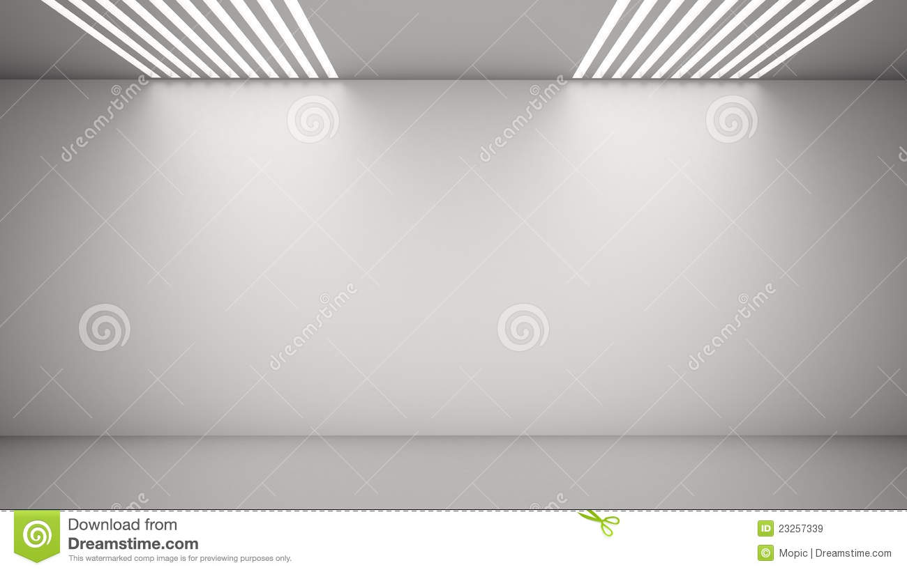 Empty Room With Light From Above Royalty Free Stock Images