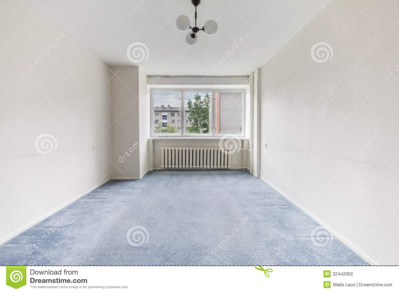 Empty room stock photo image of condo move empty clean for Blue and white carpet