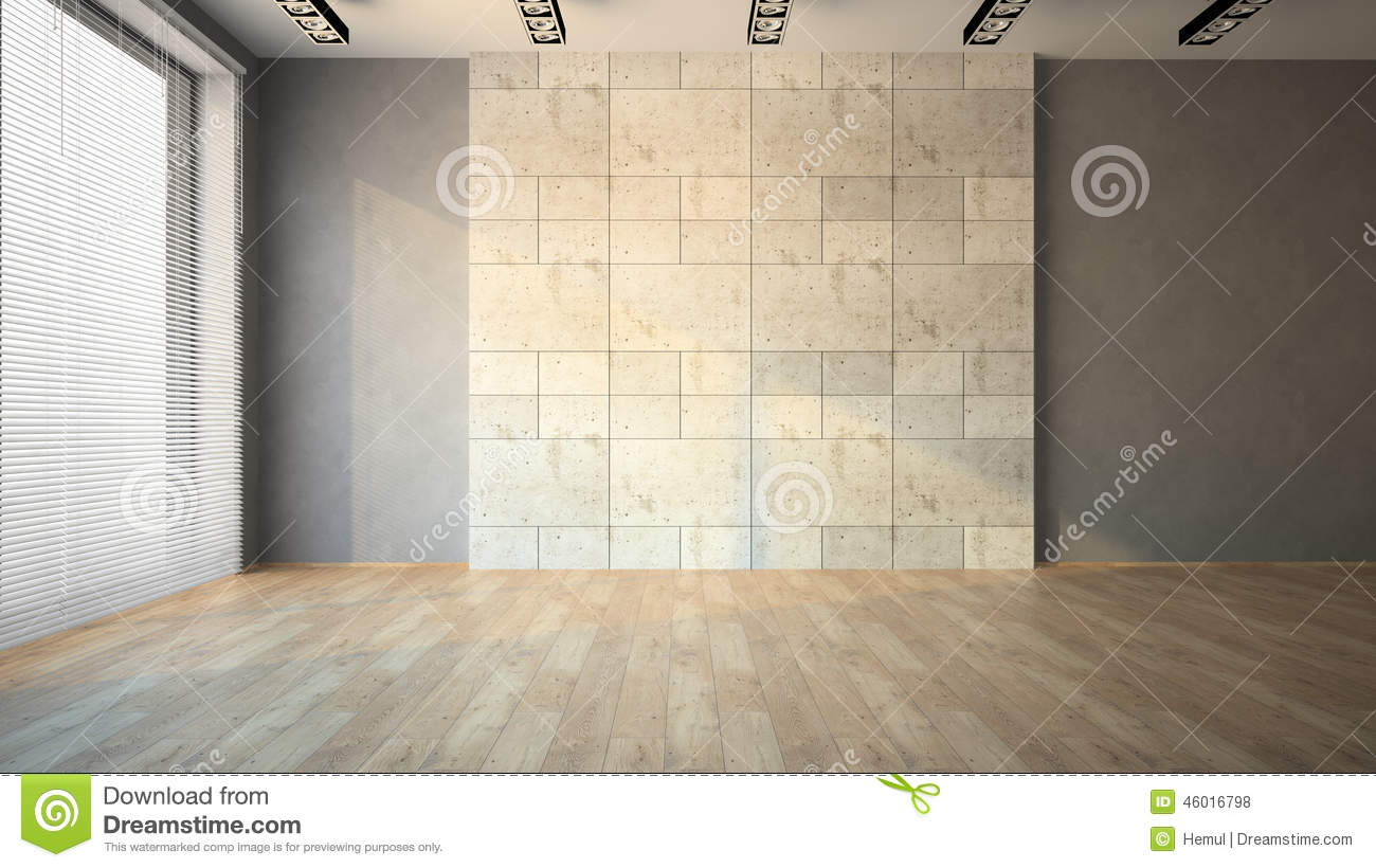 Empty room with louvers