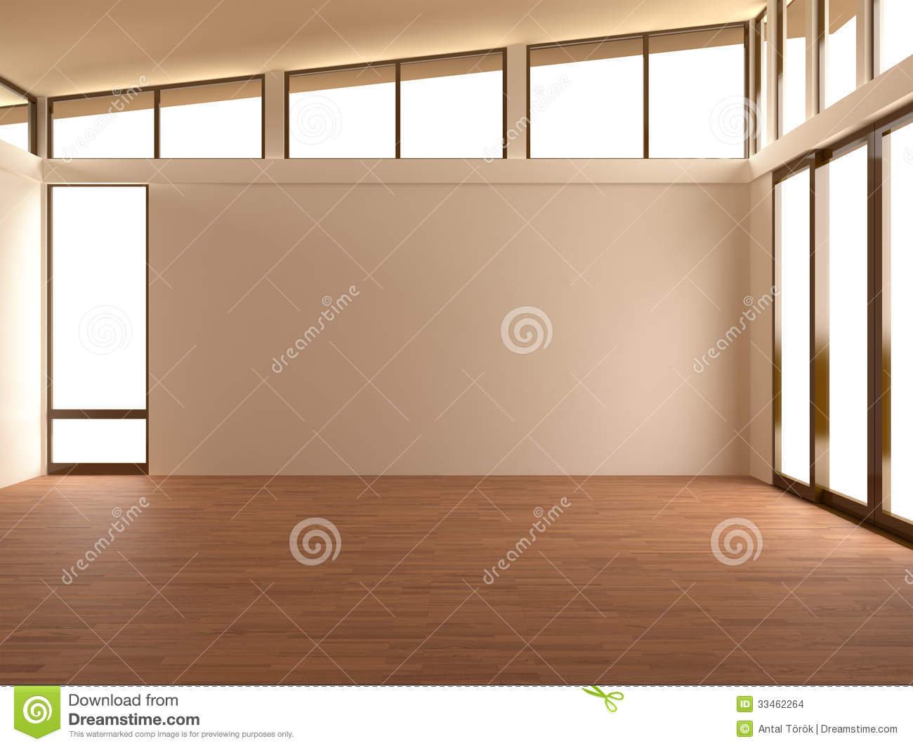 Empty room in modern room stock images image 33462264 for 3d laminate flooring