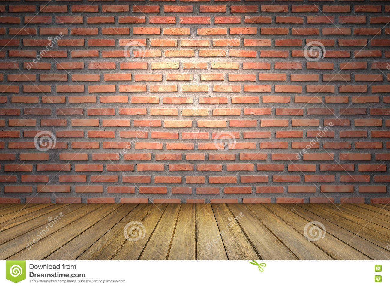 light wood floor perspective. Empty Room Of Old Red Brick Wall, Perspective Brown Wooden Floor ,spot Light From Top,for Display Or Present Your Products Wood O