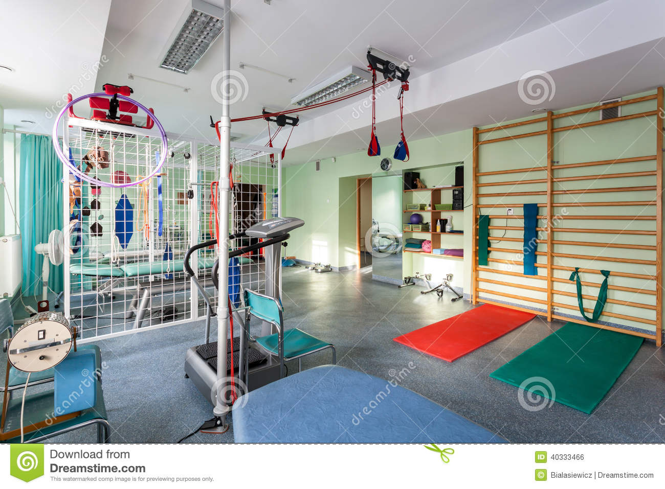 Empty Room At Physiotherapy Clinic Stock Photo Image