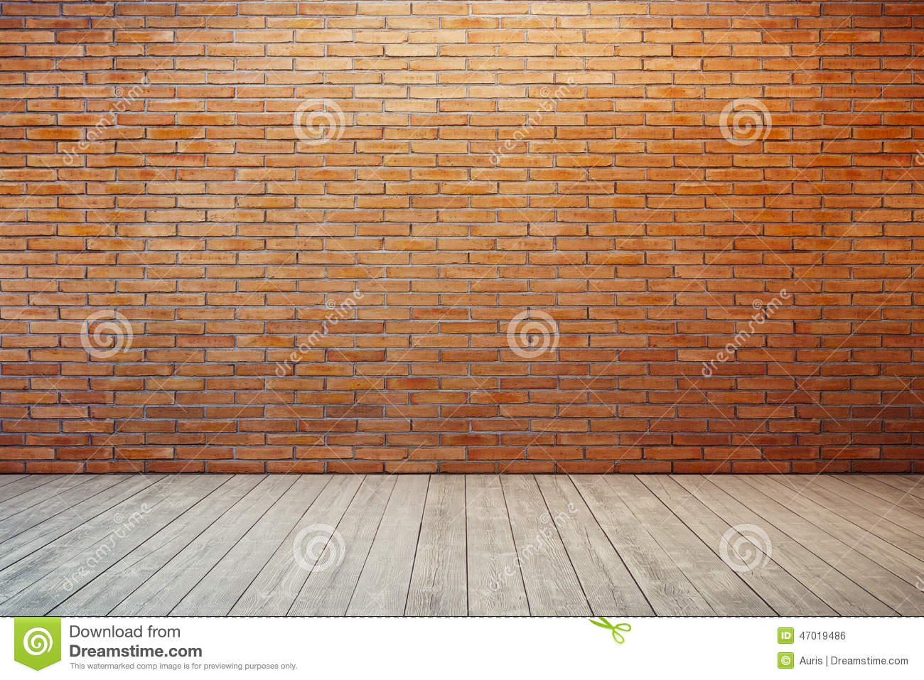 Empty room with red brick wall Empty Brick Wall