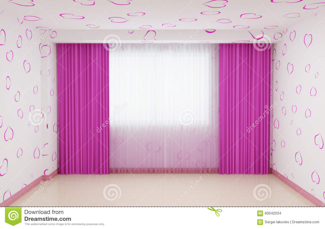 Empty Room Renovated For Girls In Pink The Interior Has A