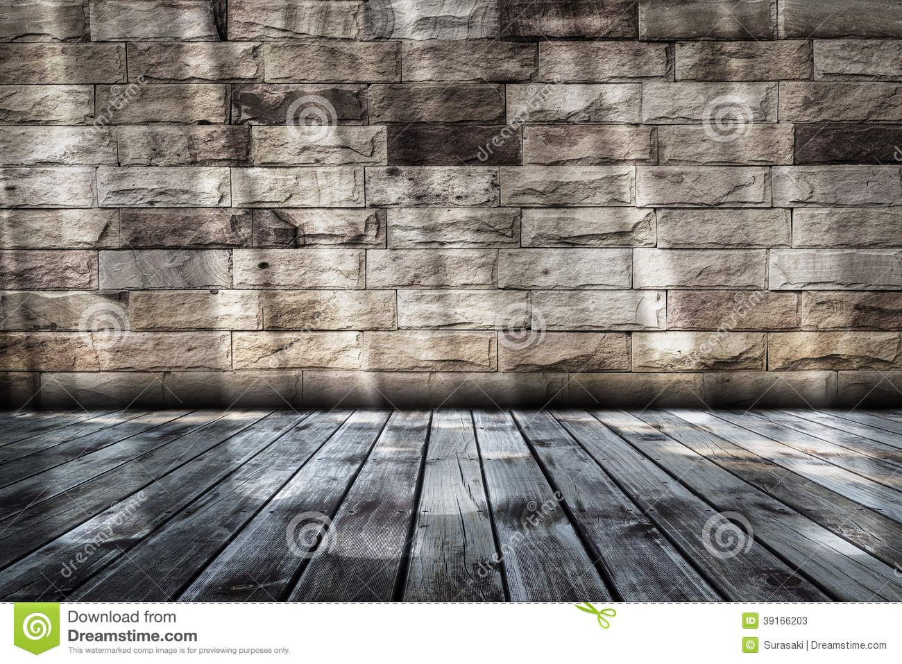 Empty Room With Sunbeam Stock Photo - Image: 39166203