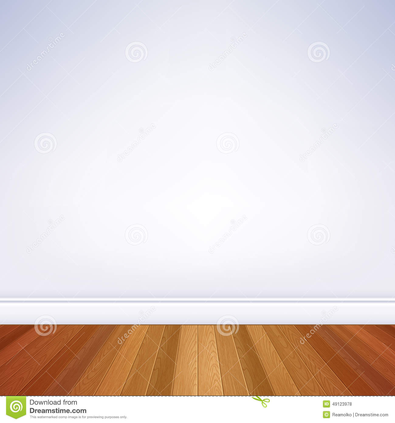 empty room wall and floor template stock vector illustration of