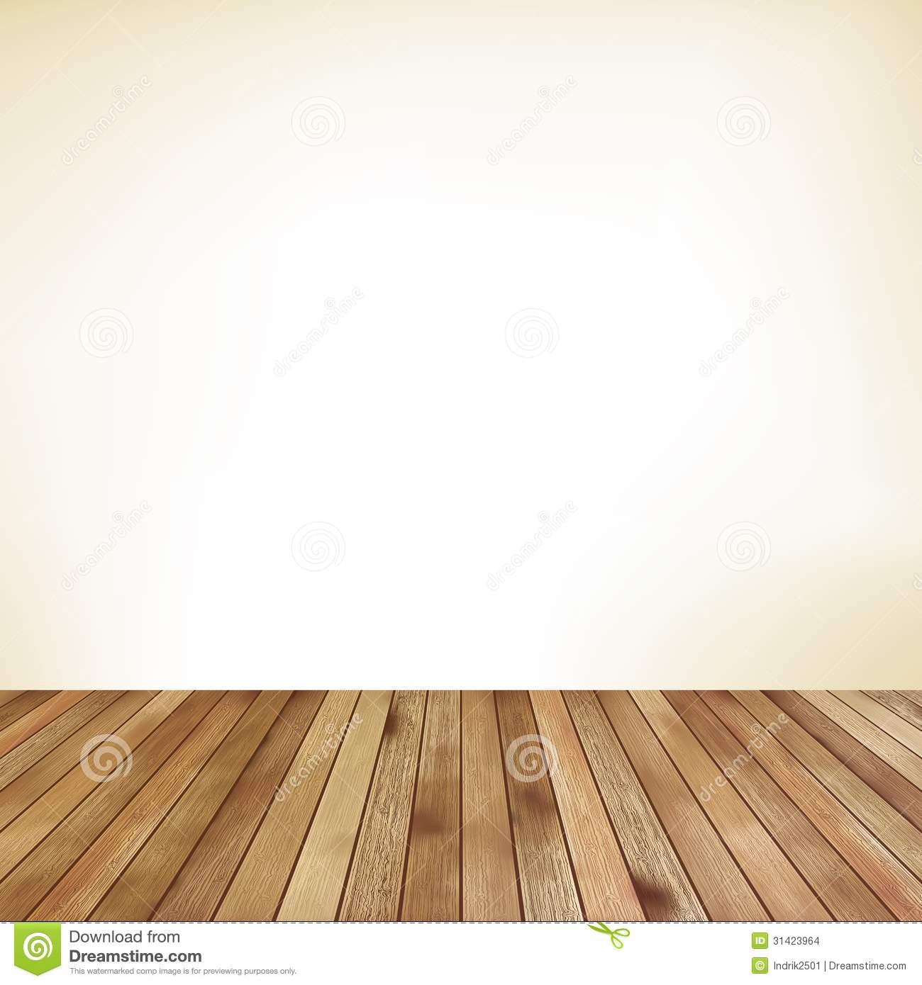 Clip Art Carpet And Flooring : Empty room with wall and wooden floor eps stock vector