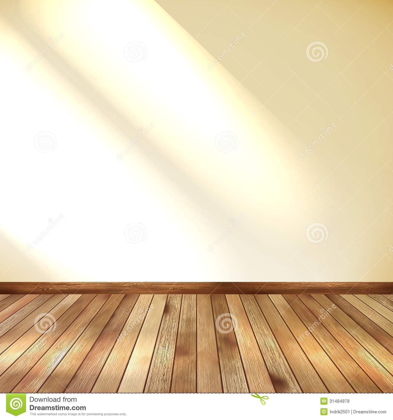 Empty room with wall and wooden floor eps 10 royalty free for 10 floor