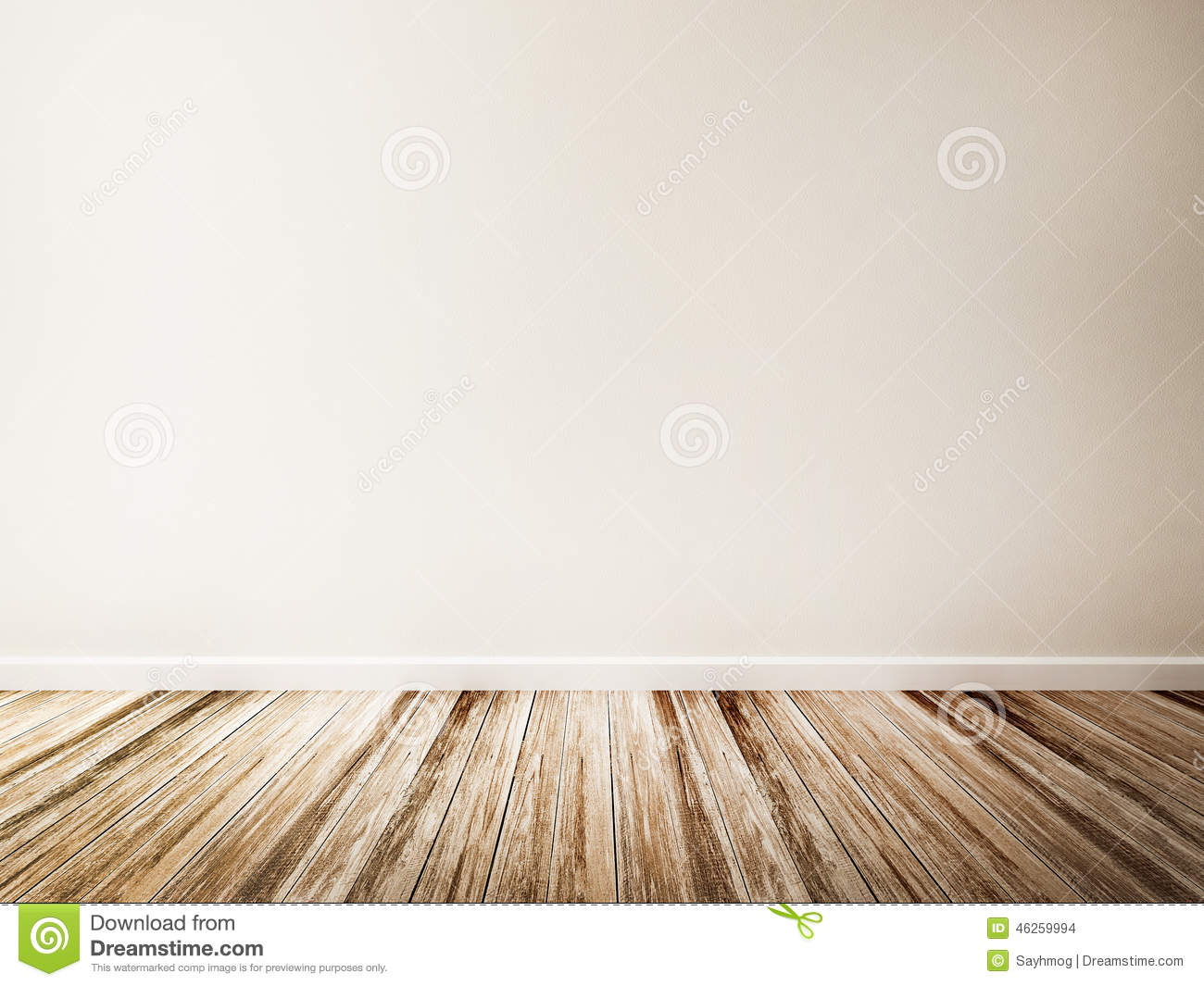 Empty room of white wall and wood floor stock illustration for Floor and wall