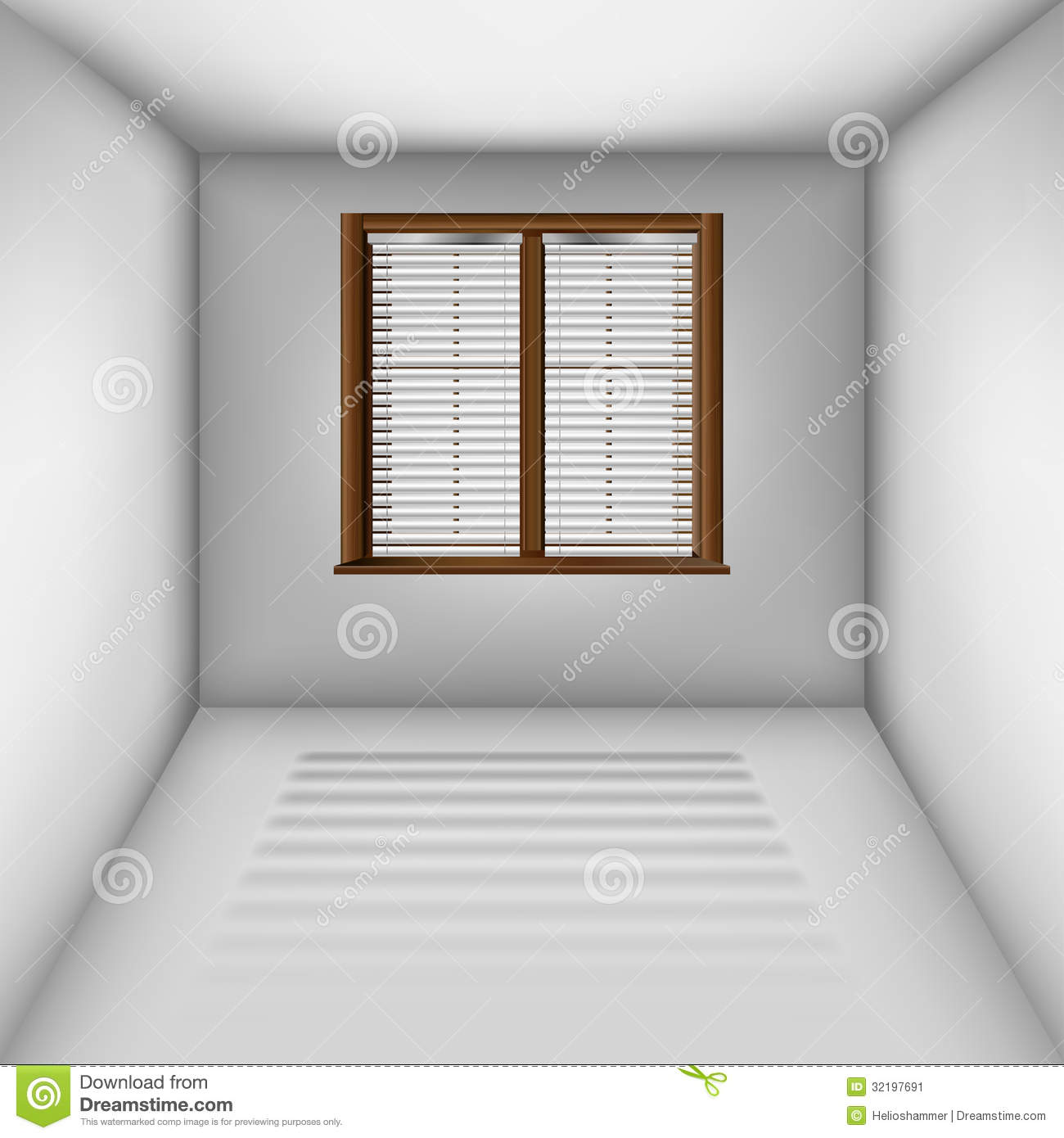Simple house decoration living room - Empty Room With Window And Blinds Stock Image Image