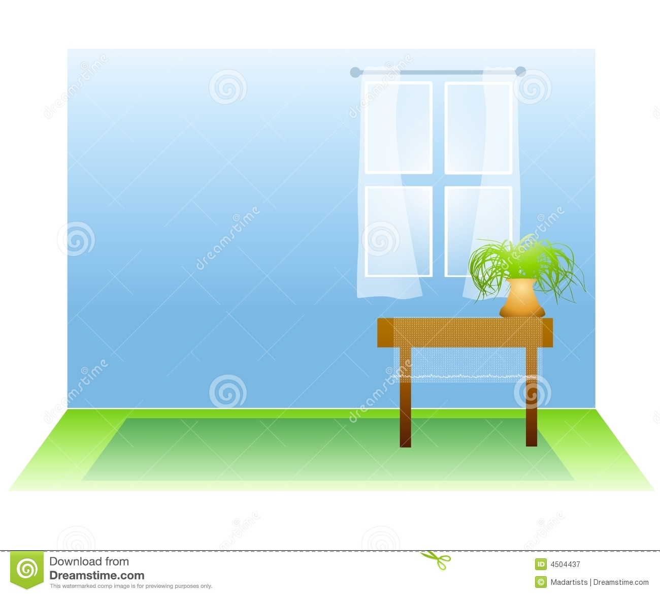 Bedroom Additions Floor Plans Empty Room With Window And Plant Royalty Free Stock