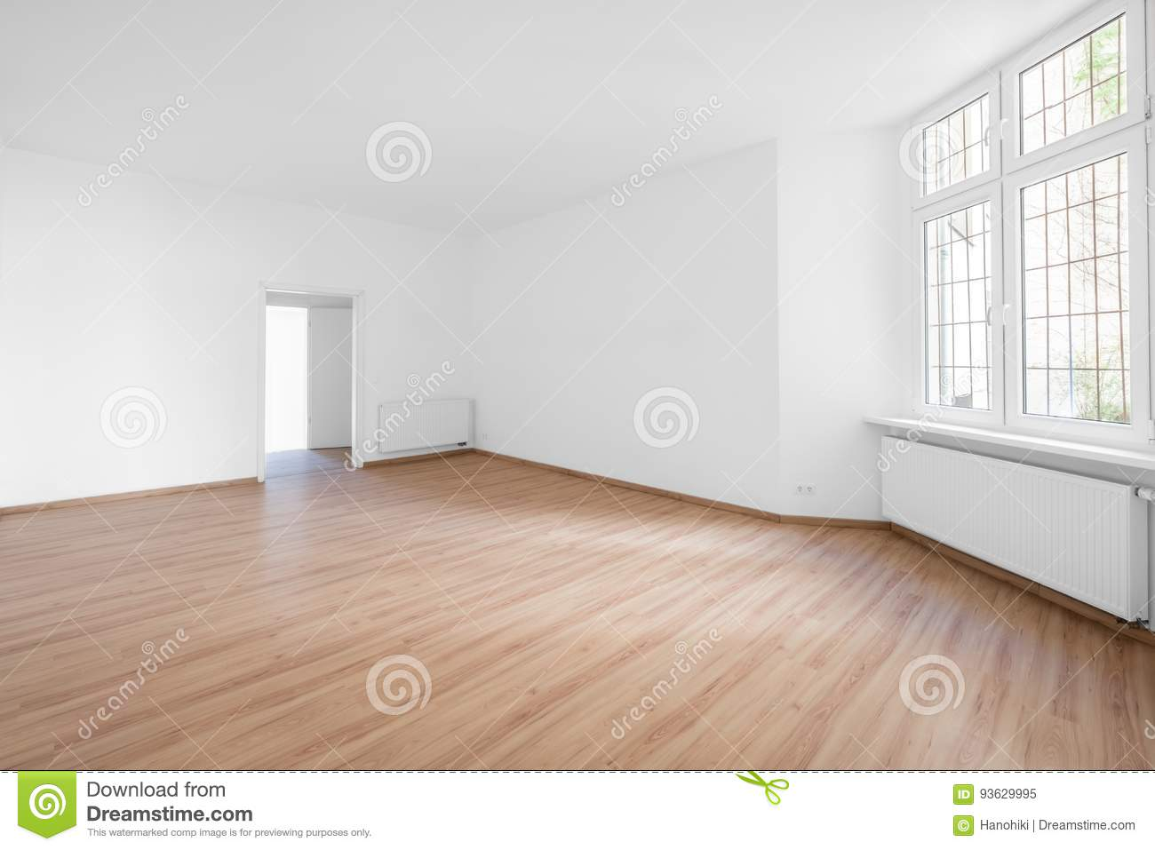 Empty Room Wooden Floor In New Apartment Editorial Image Image Of