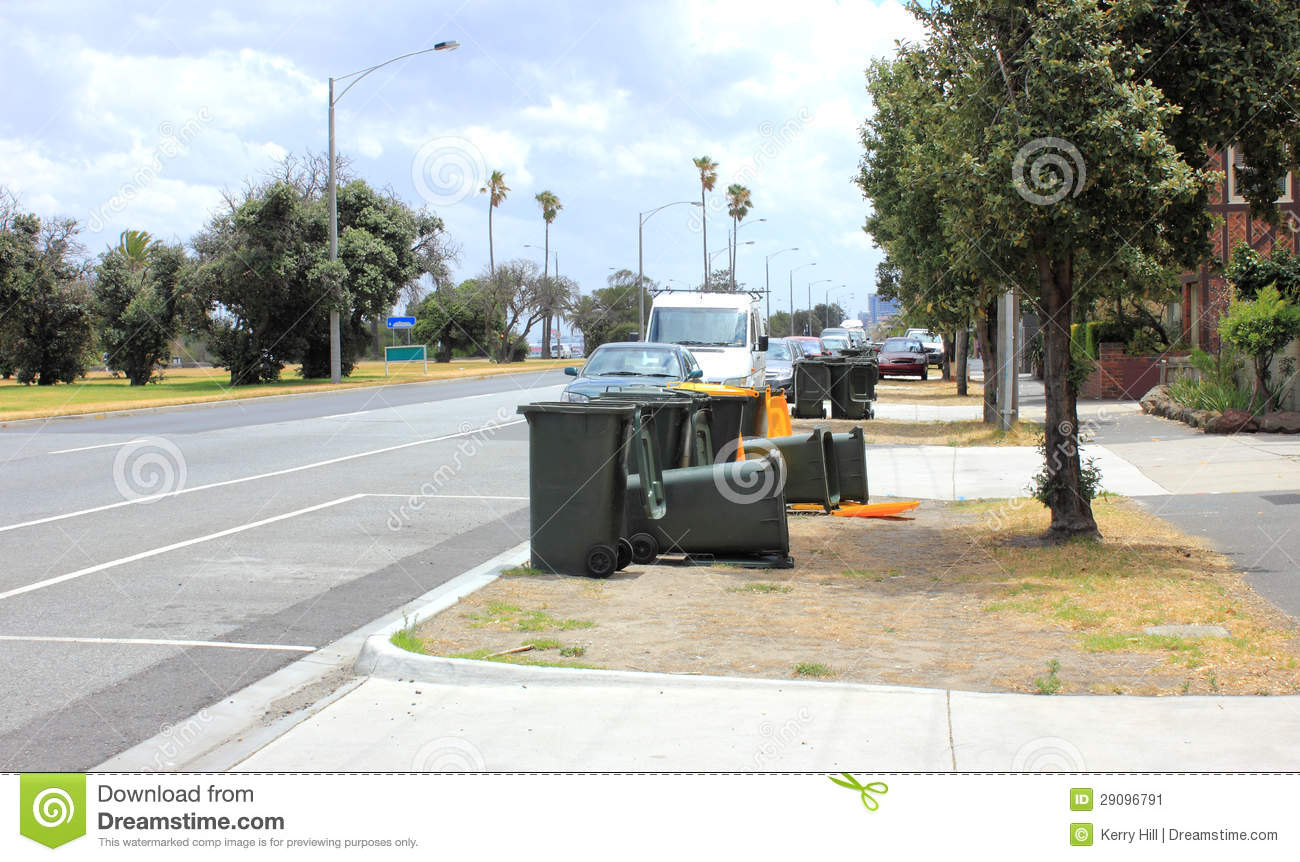 Empty rubbish bins on street stock image image 29096791 - Rd rubbish bin ...