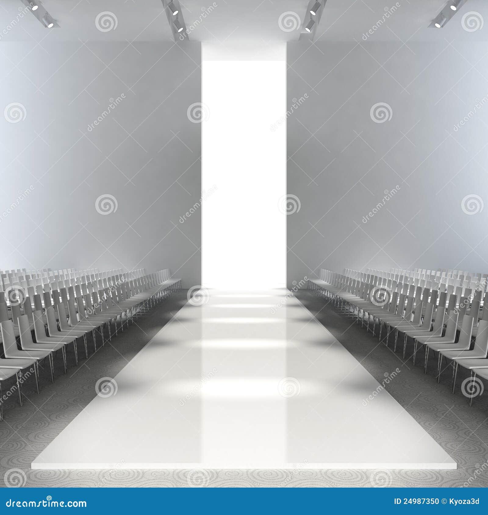 Empty Runway Stock Illustration Image Of Beauty