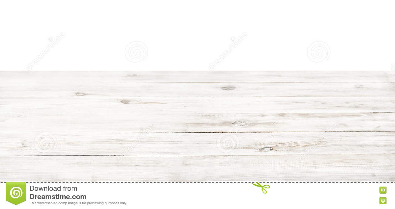 Empty Rustic Table Top White ...