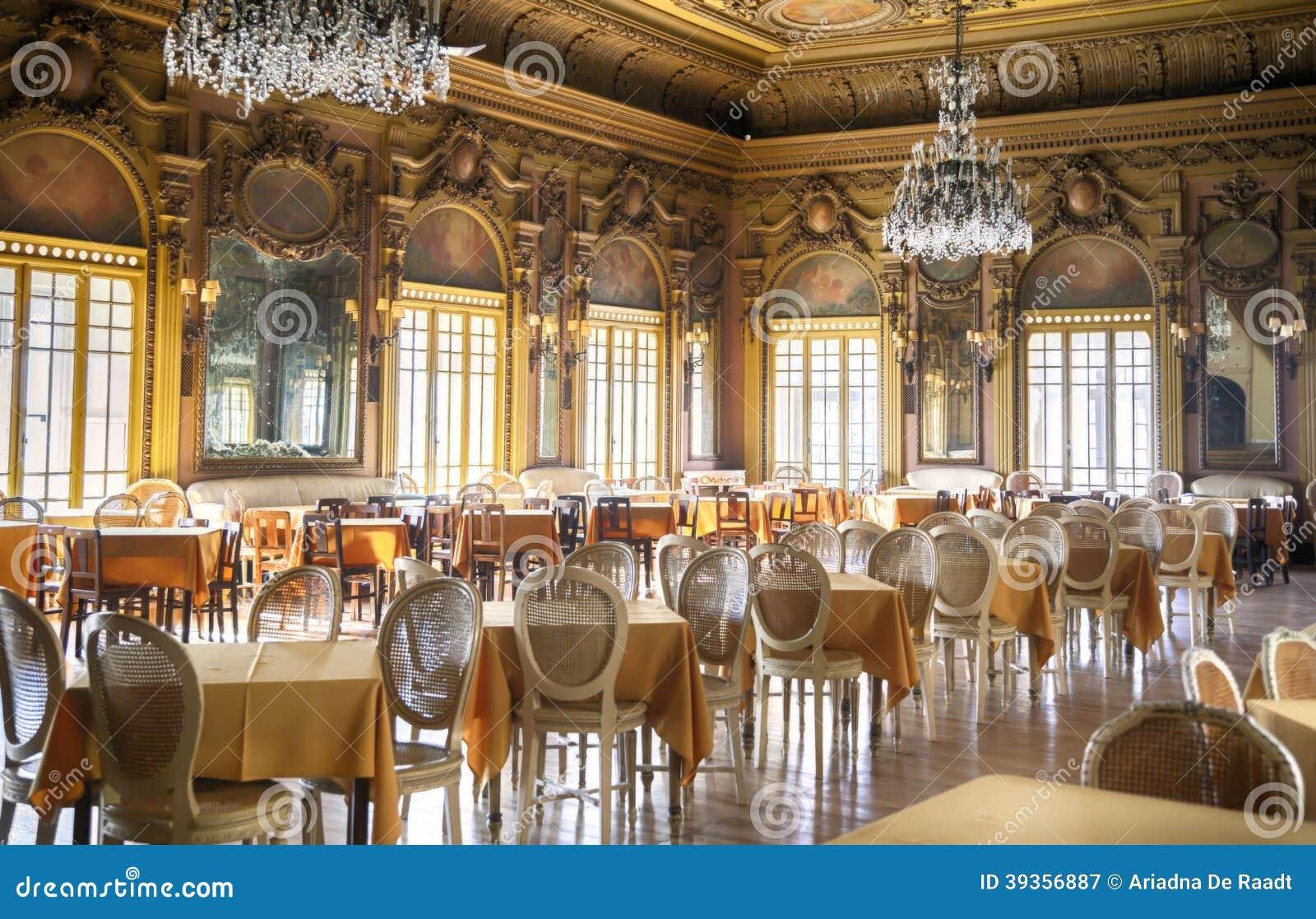Empty salon hall stock image of lisbon
