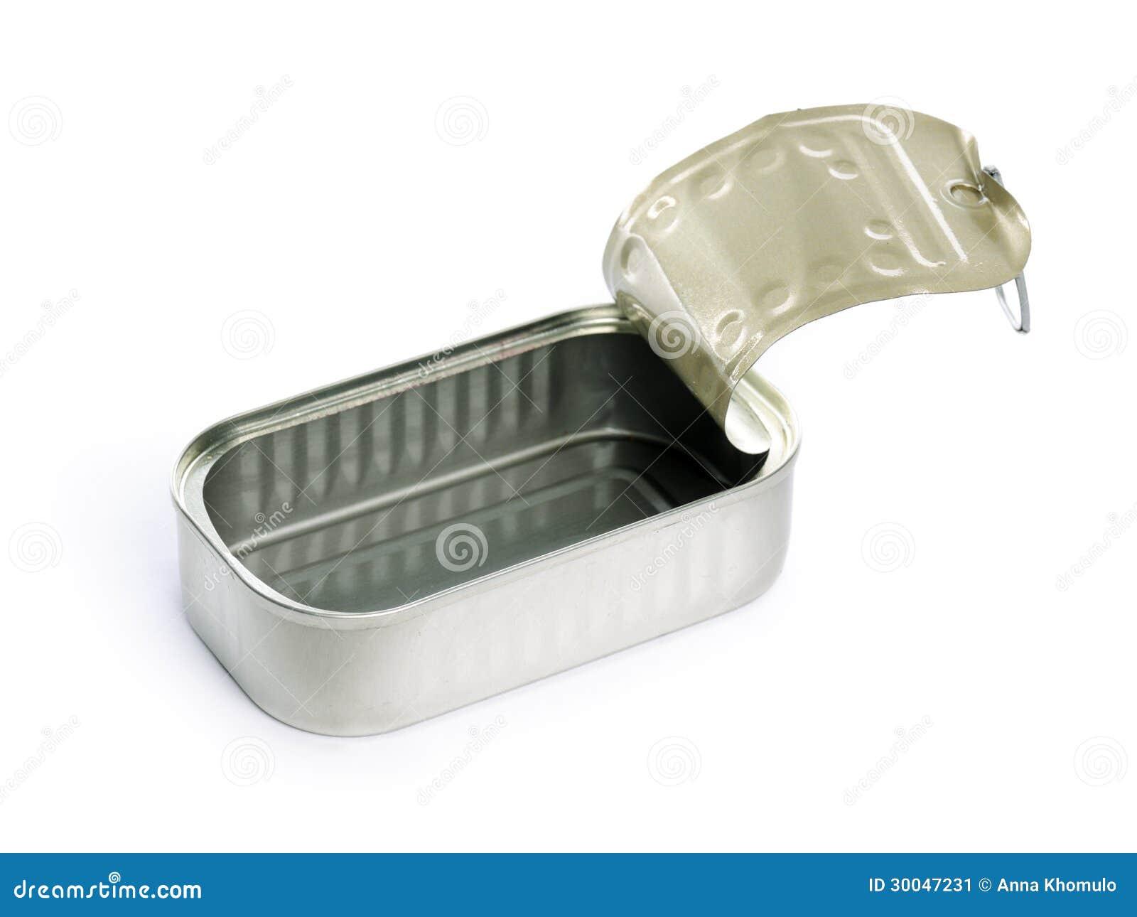 empty sardine can stock image image 30047231