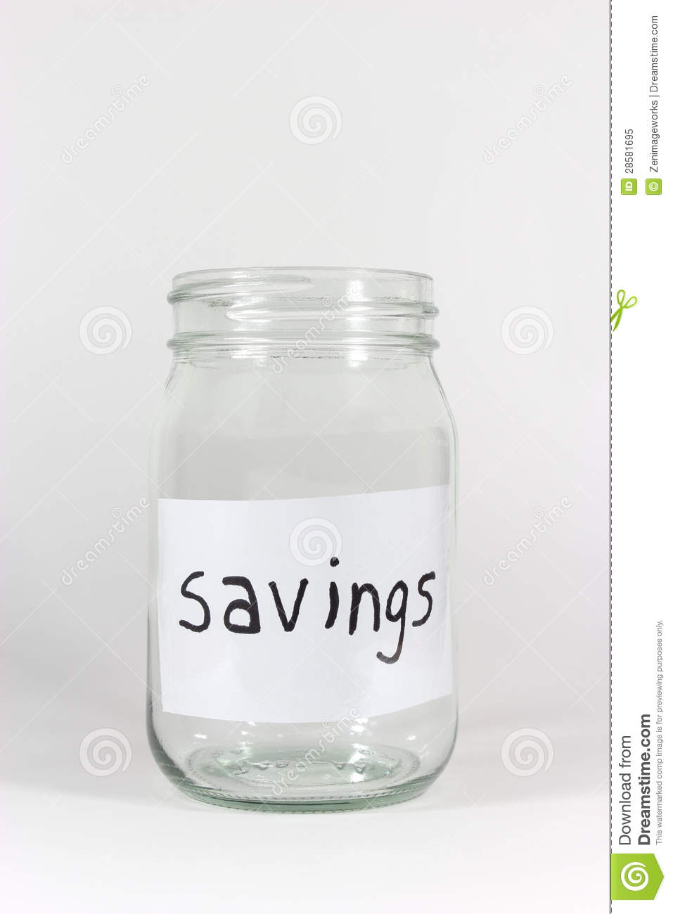 Empty Savings Jar Royalty Free Stock Photo - Image: 28581695