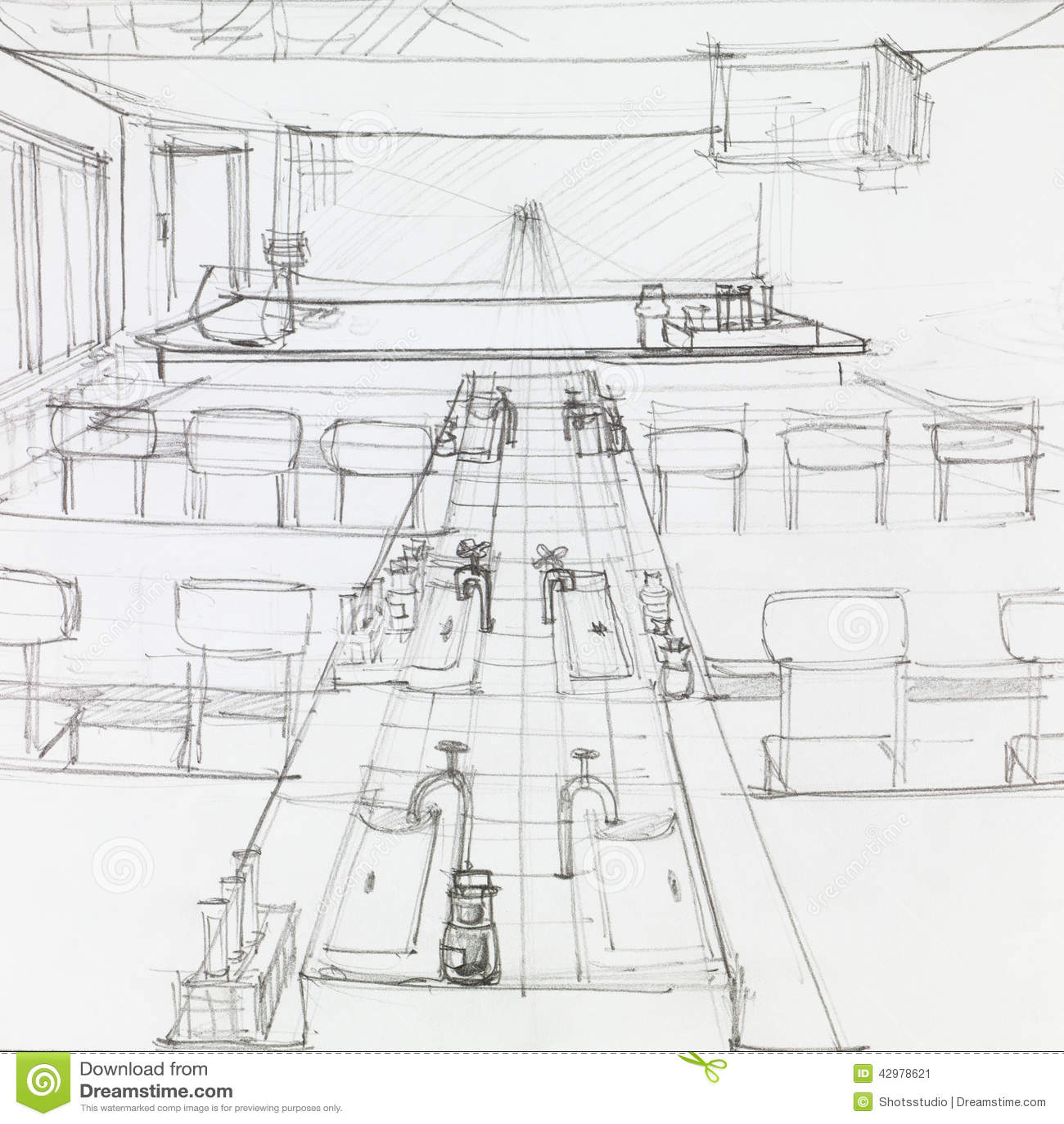Empty School Science Laboratory Stock Illustration Image  : empty school science laboratory architectural perspective lab drawn hand 42978621 from www.dreamstime.com size 1300 x 1390 jpeg 182kB