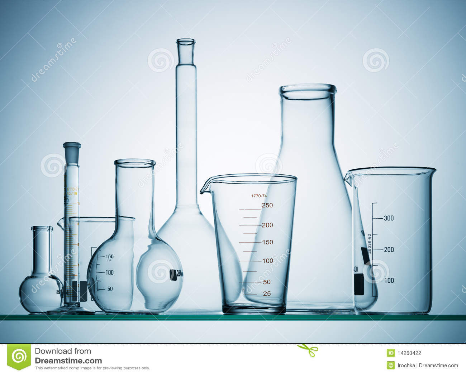 empty science beakers stock photo image of measured 14260422