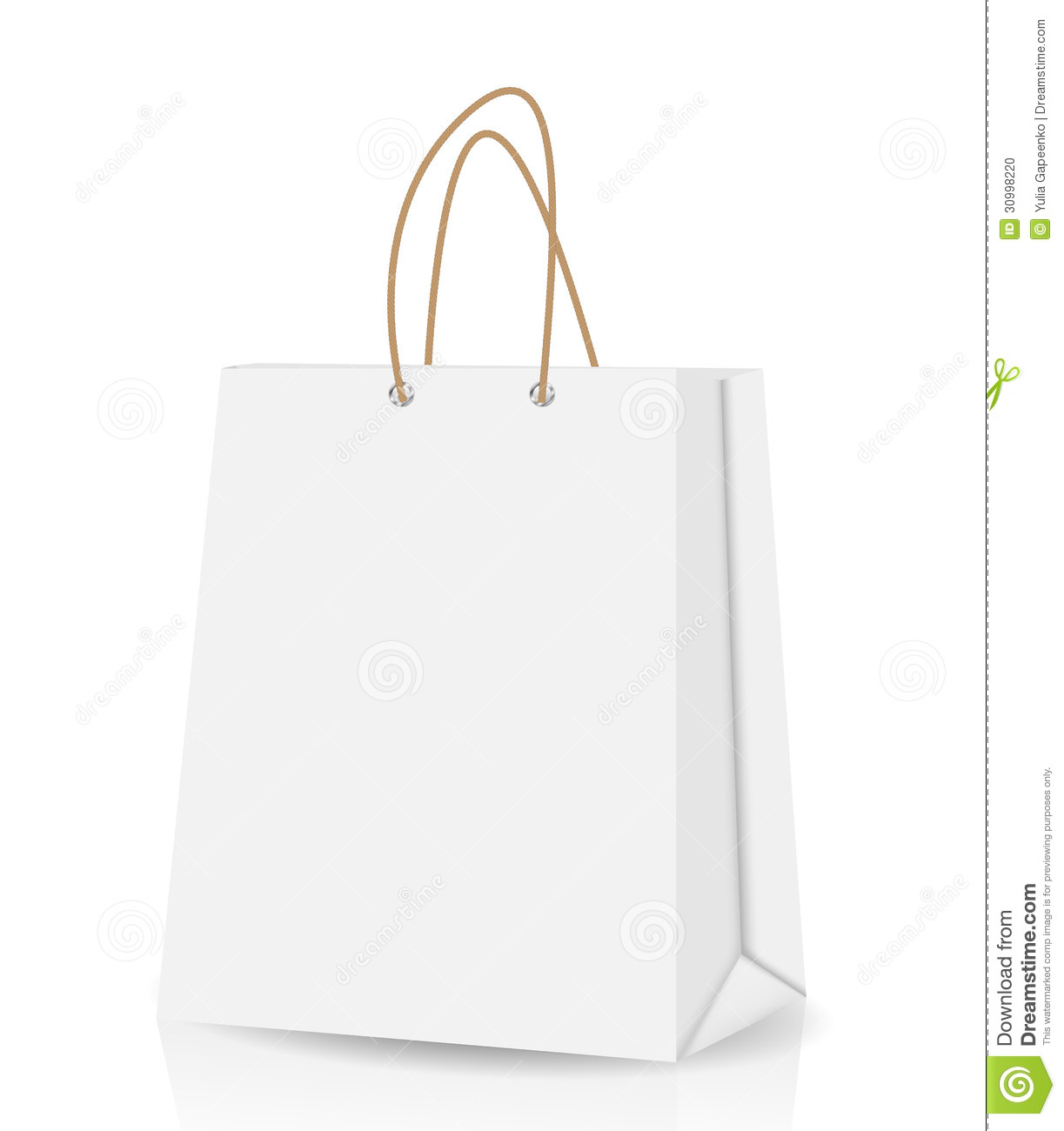 Empty Shopping Bag For Advertising And Branding Stock Photo ...