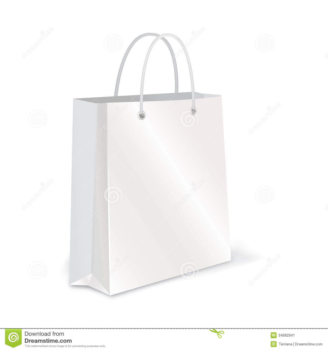 Empty Shopping Bag Set On White For Branding Stock Images - Image ...