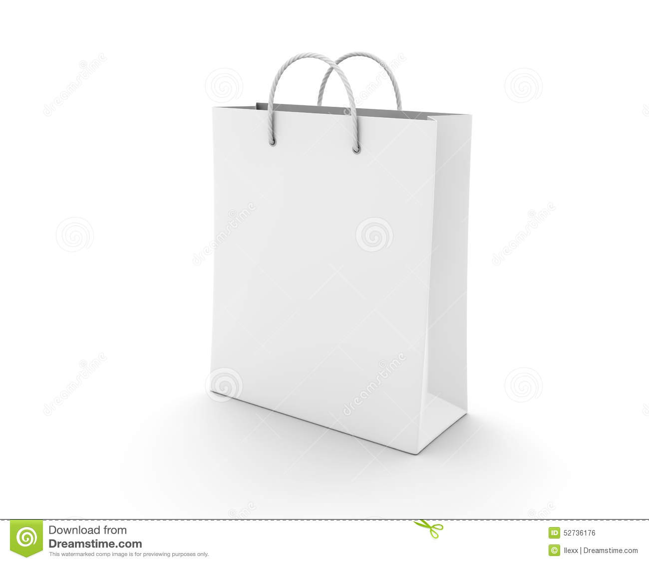 Empty Shopping Bag On White Stock Illustration - Image: 52736176