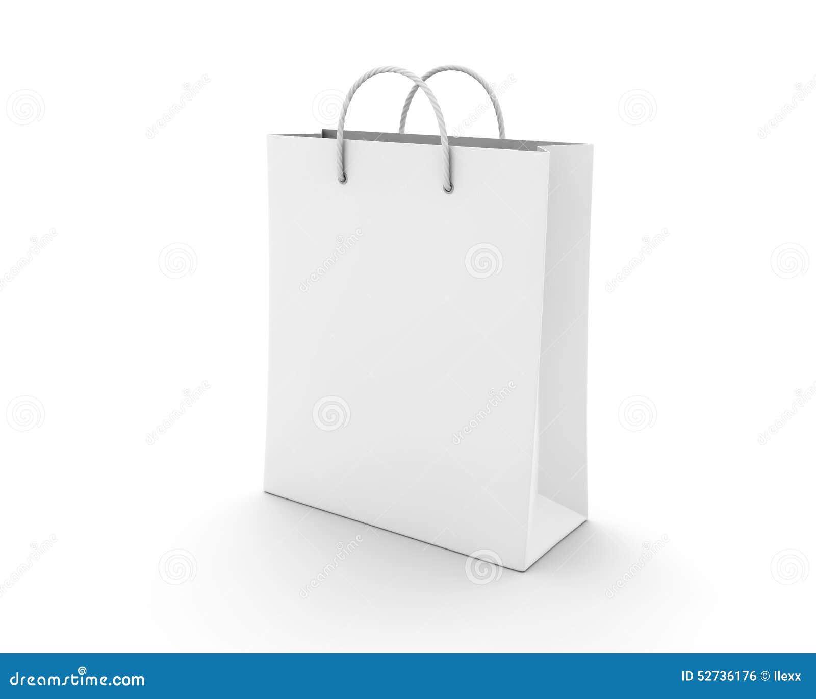 Empty Shopping Bag On White Stock Illustration - Image: 52736176