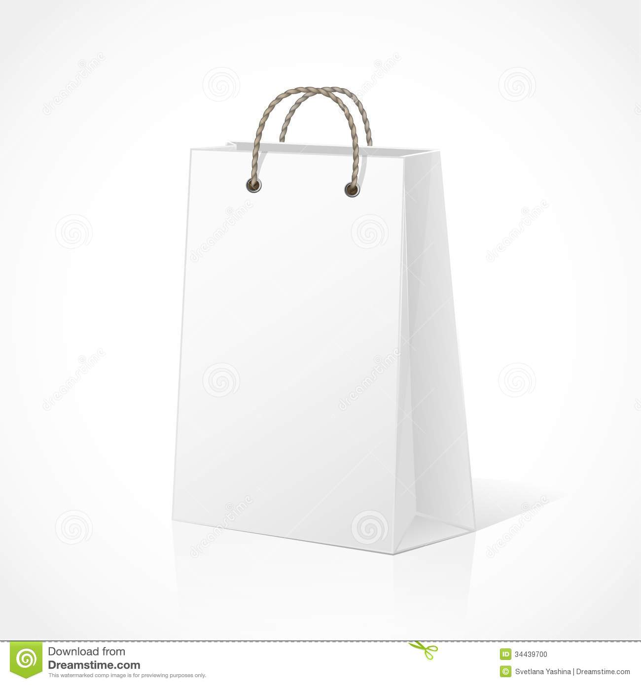 Empty Shopping Bag Stock Photo - Image: 34439700