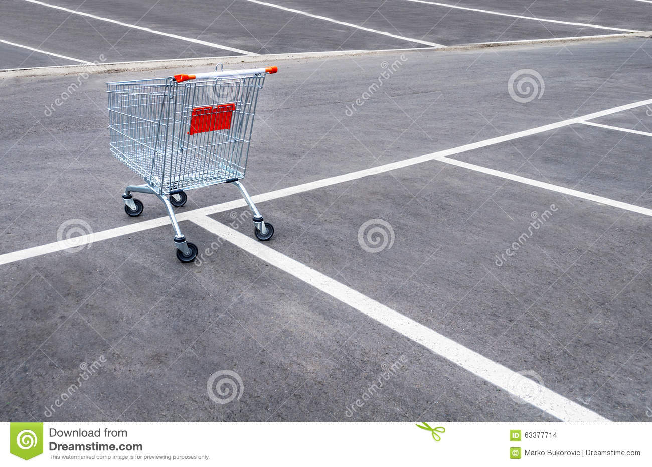 Download Empty Shopping Carts On A Empty Parking Lot Stock Photo - Image of shine, nobody: 63377714