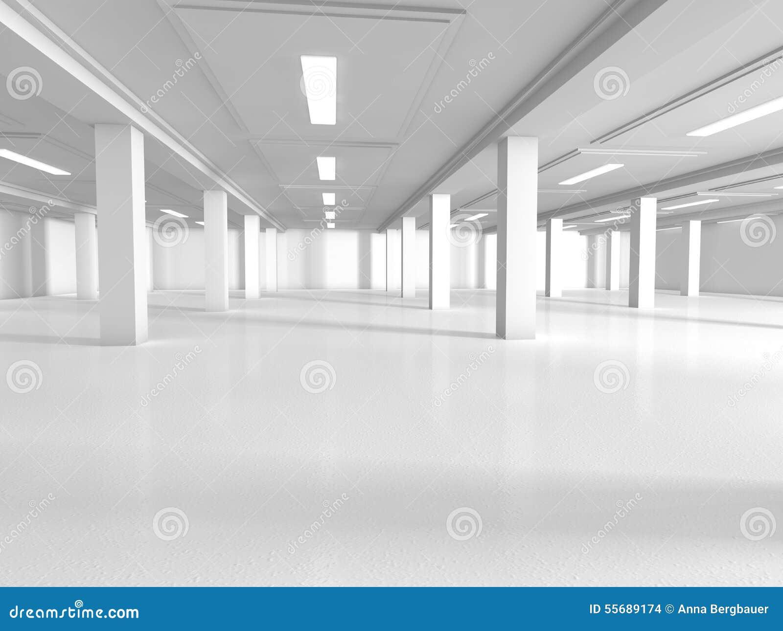 Podium In Empty Room White