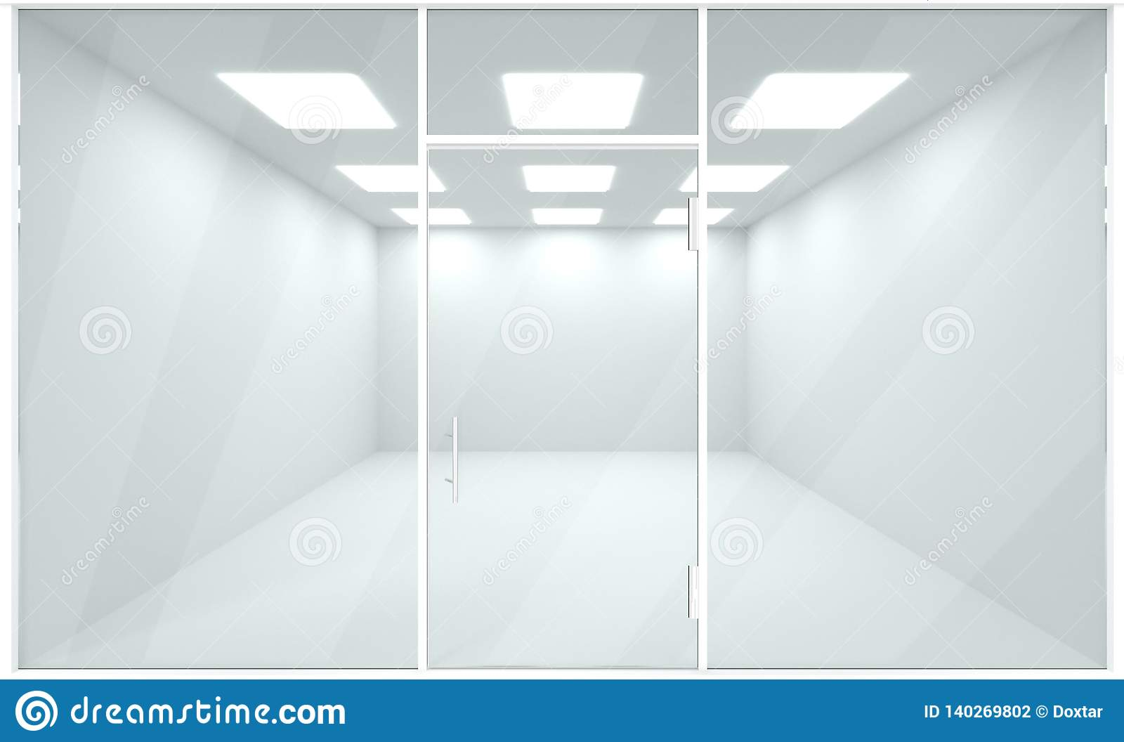 Astounding Empty Showroom Interior Template Mock Up 3D Render Stock Download Free Architecture Designs Scobabritishbridgeorg