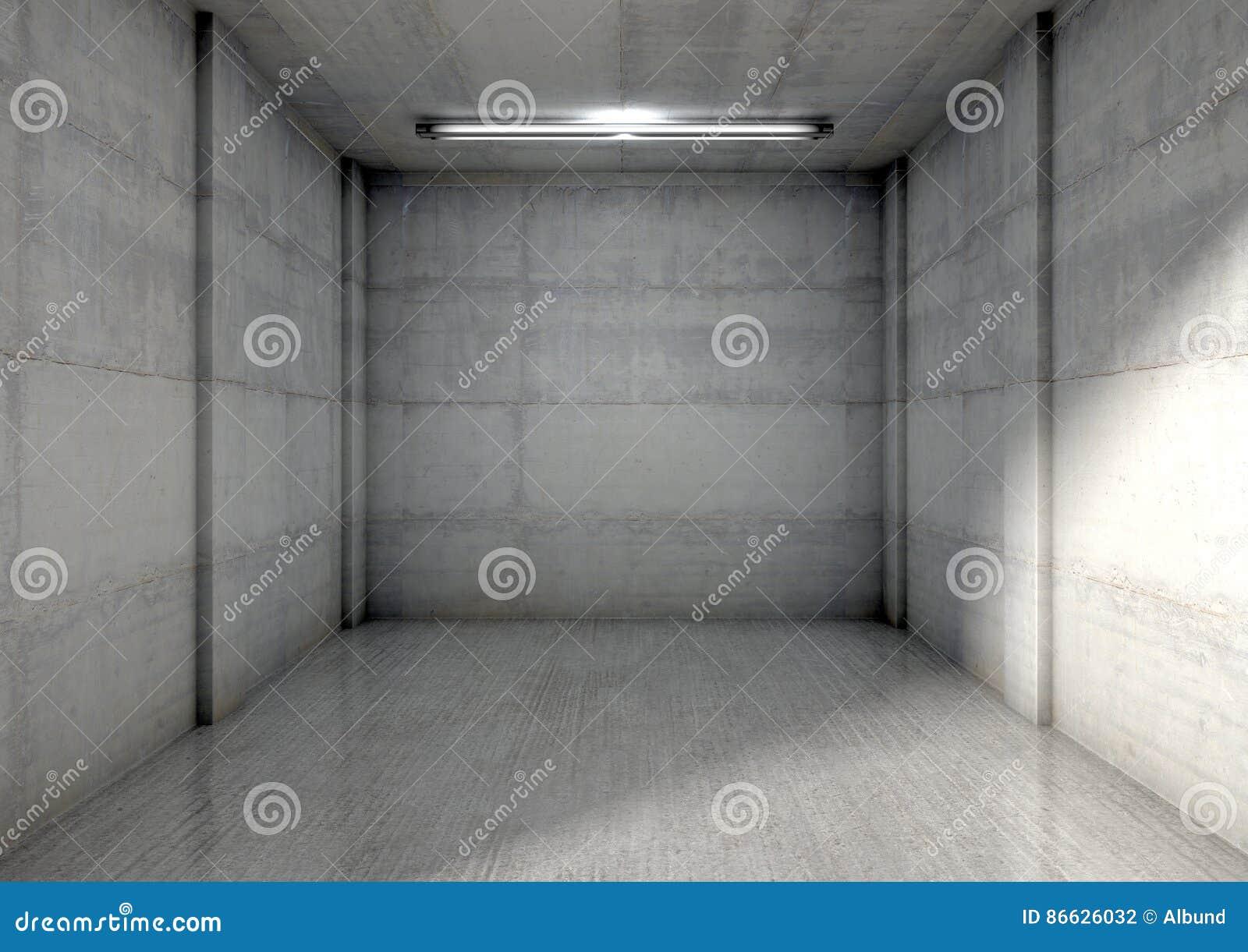 empty single garage stock illustration image 86626032 concrete empty garage inside interior render single