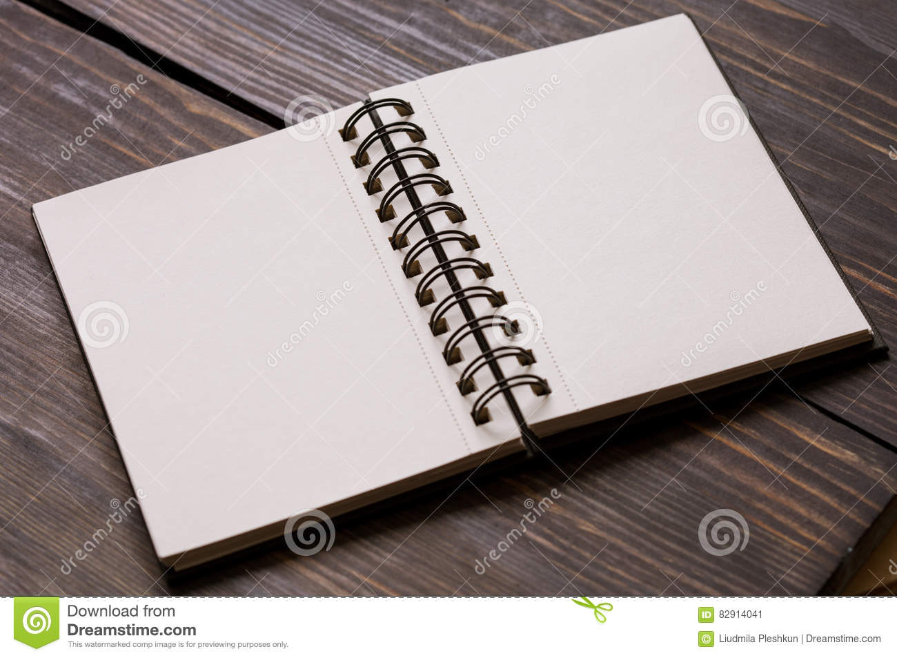 Empty sketchpad stock image  Image of object, design - 82914041