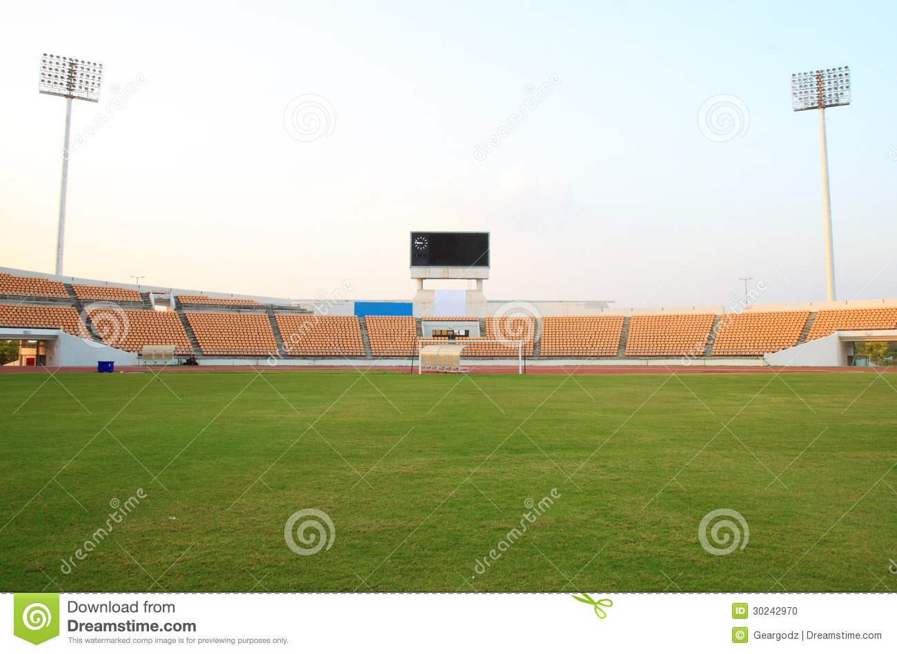 small football stadium stock photo