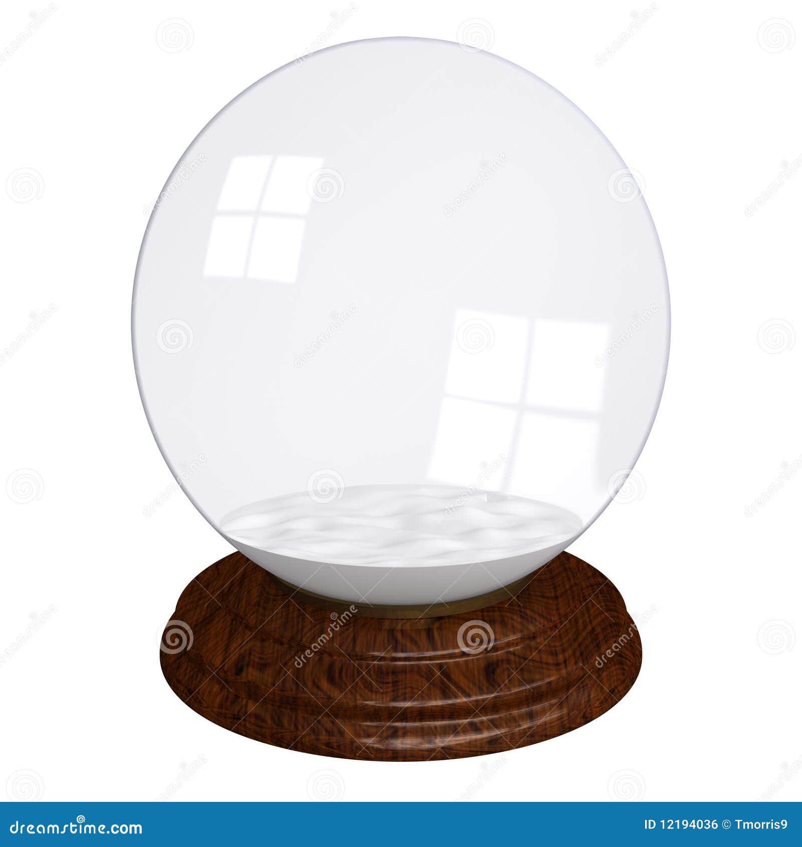 empty snow globe stock illustration image of isolated 12194036. Black Bedroom Furniture Sets. Home Design Ideas