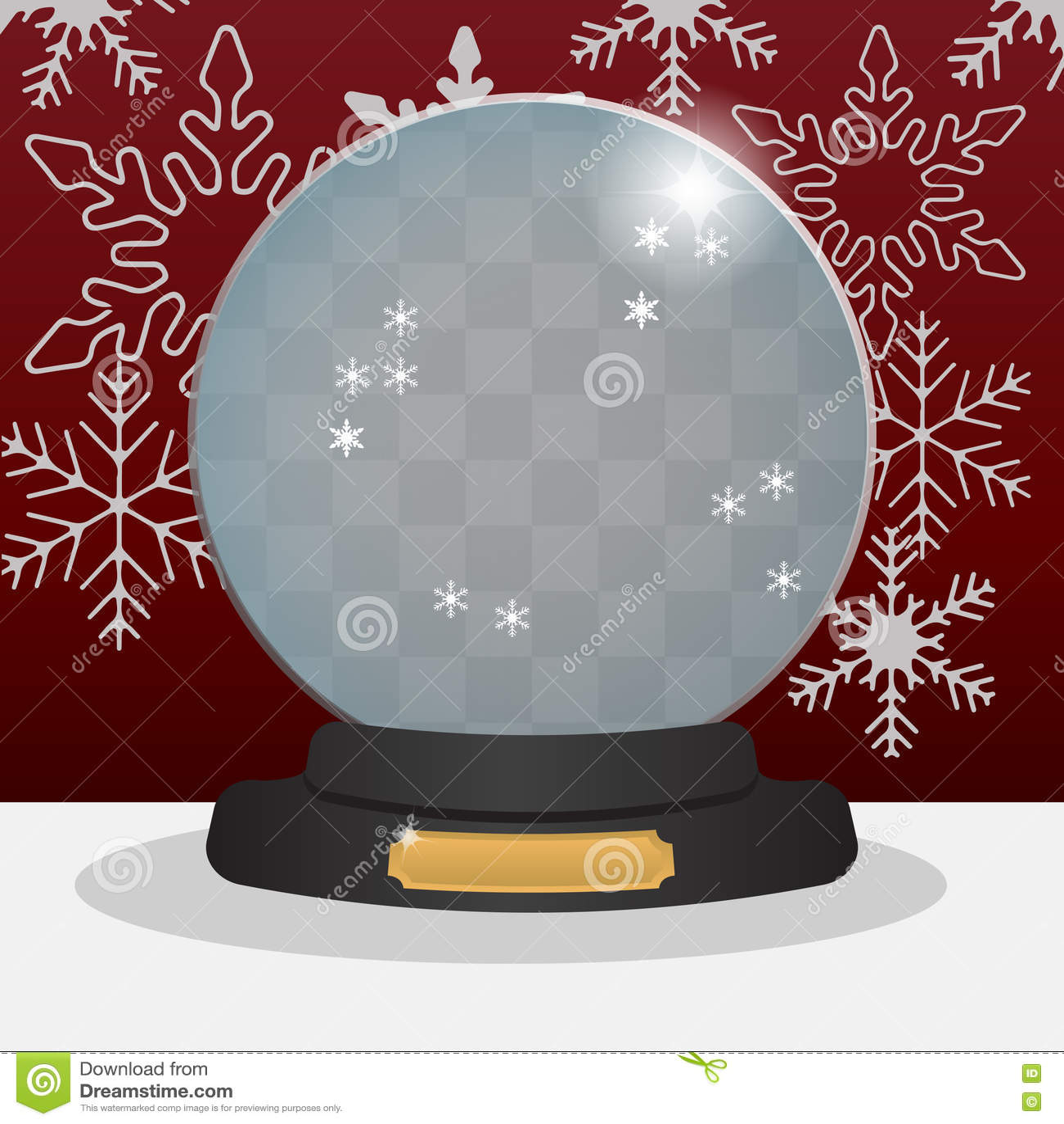 Empty Snow Globe Stock Illustration Illustration Of Snowflake