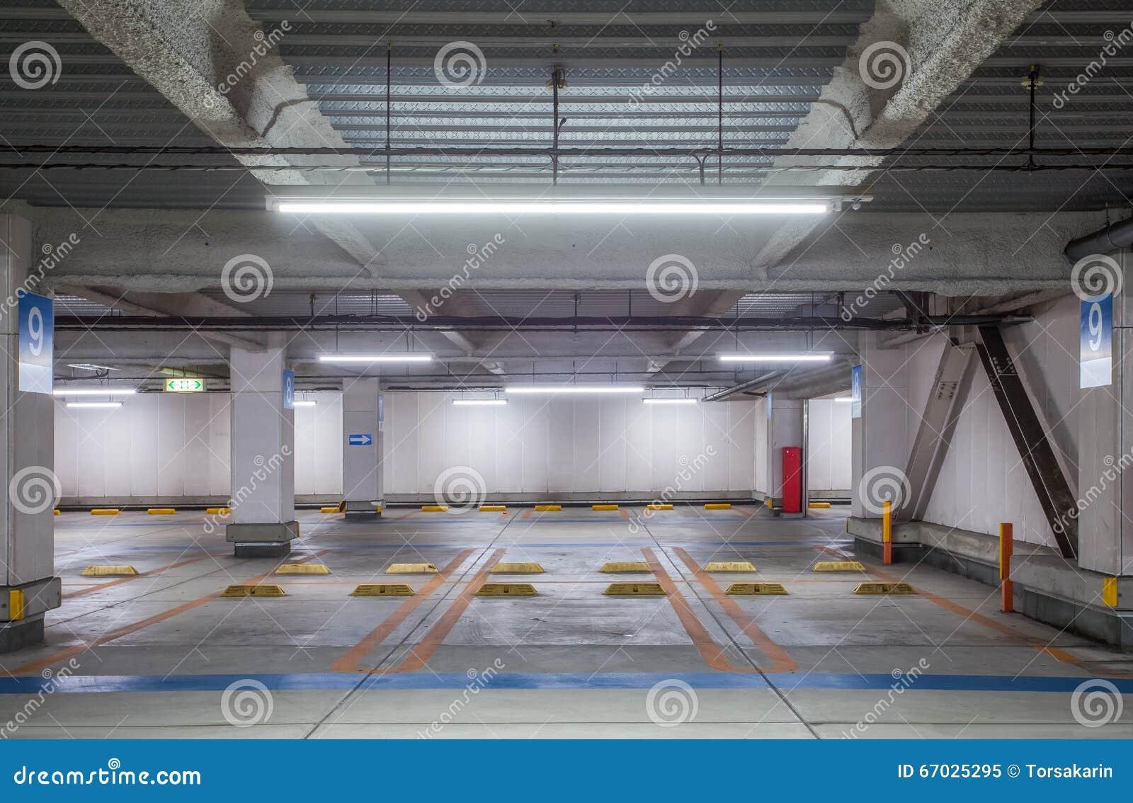 empty space car park stock photo image 67025295. Black Bedroom Furniture Sets. Home Design Ideas