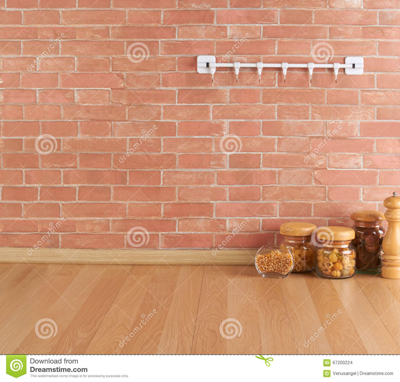 Empty Kitchen Wall Empty Space On The Kitchen Counter Stock Photo Image 67200224