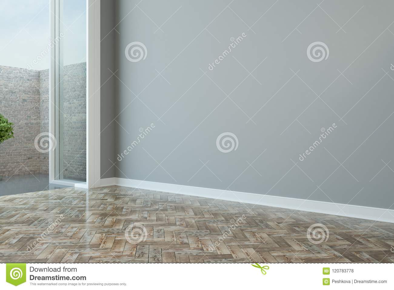 Brick Wall Outside From Modern Room Stock Illustration ...