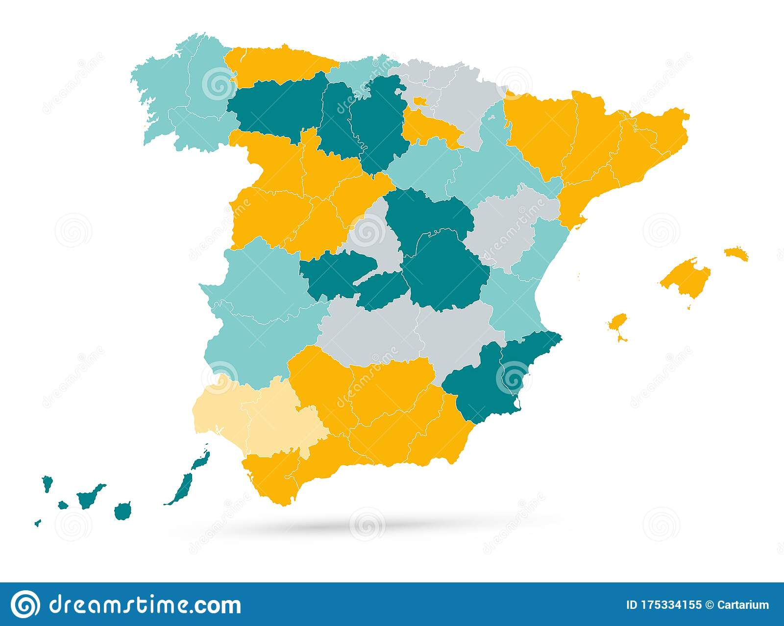 Picture of: Empty Spain Map On Isolated On White Stock Vector Illustration Of Transparent Background 175334155
