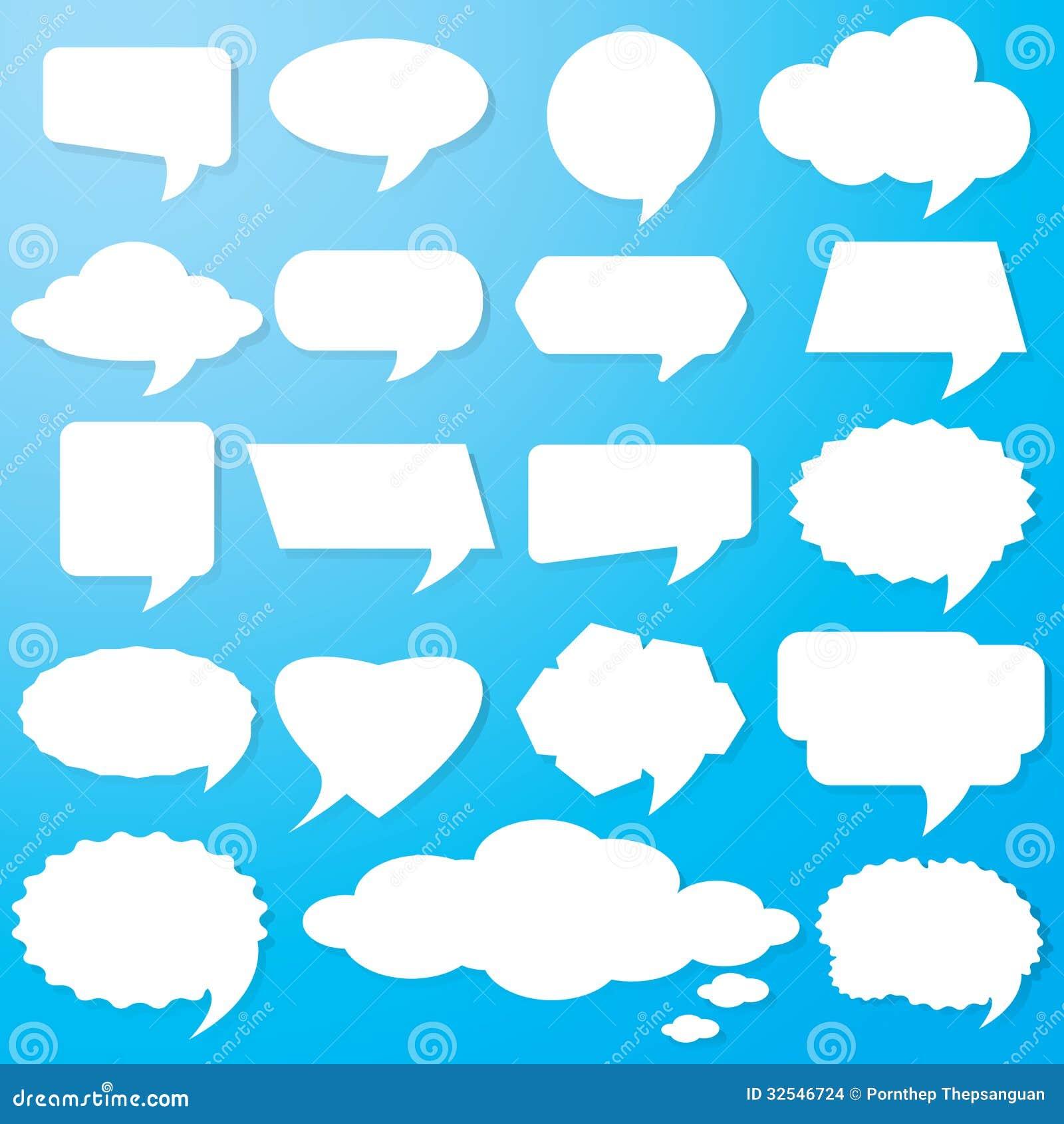 Action Bubble Clip Art Empty speech bubbles paper on