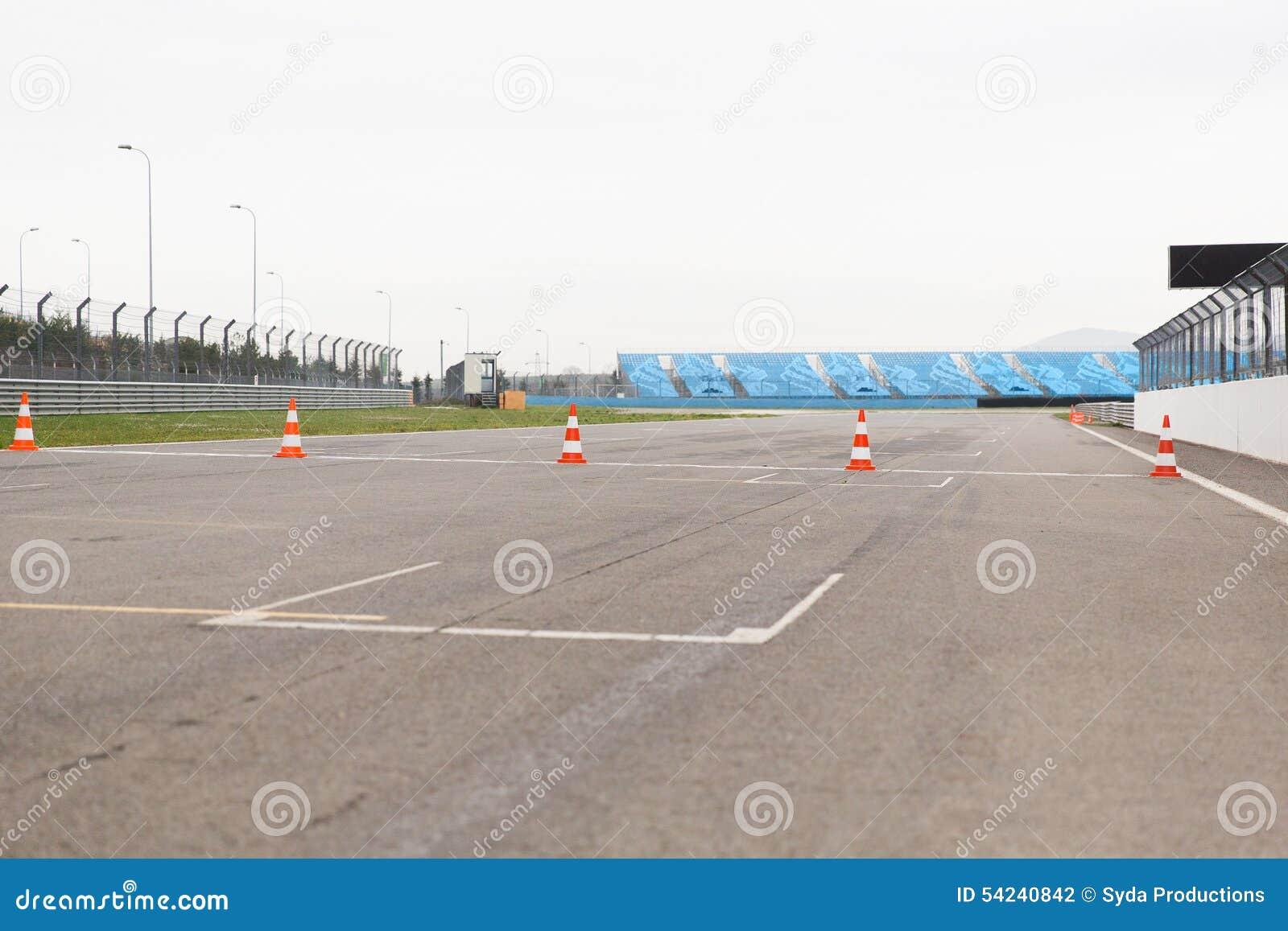 Empty Speedway On Stadium Stock Photo Image 54240842