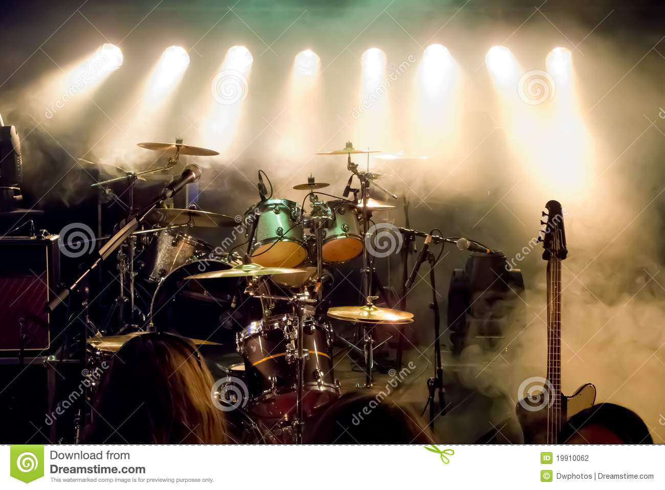 Empty Stage At Concert Stock Photography Image 19910062