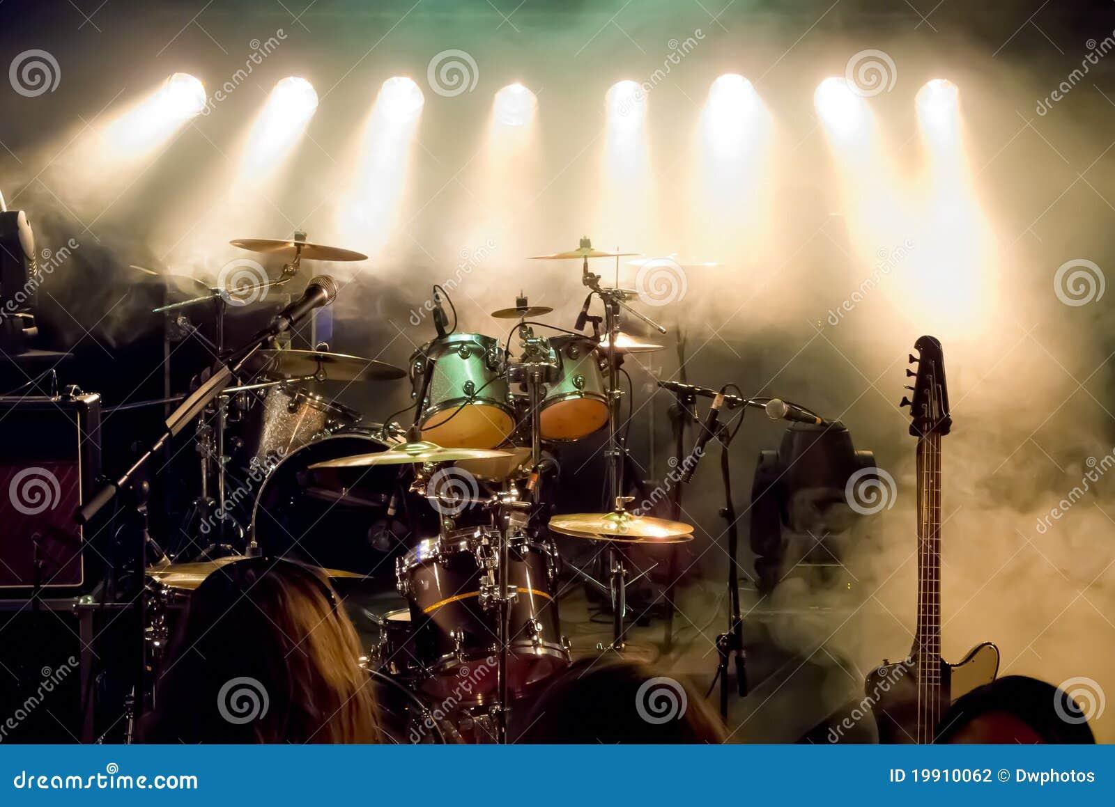 Empty outdoor rock stage - Concert