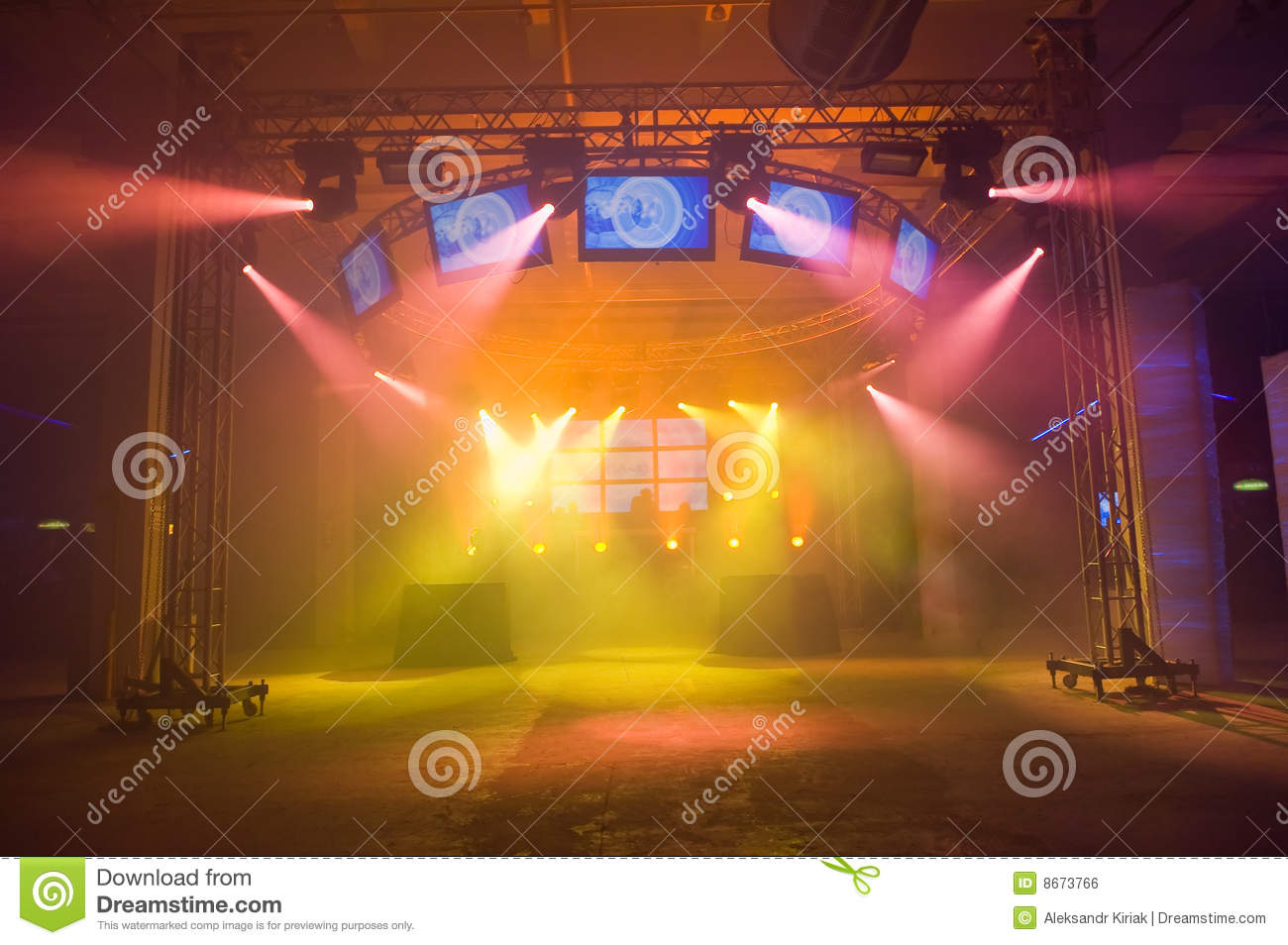 Empty outdoor rock stage - Royalty Free Stock Photo Download Empty Stage