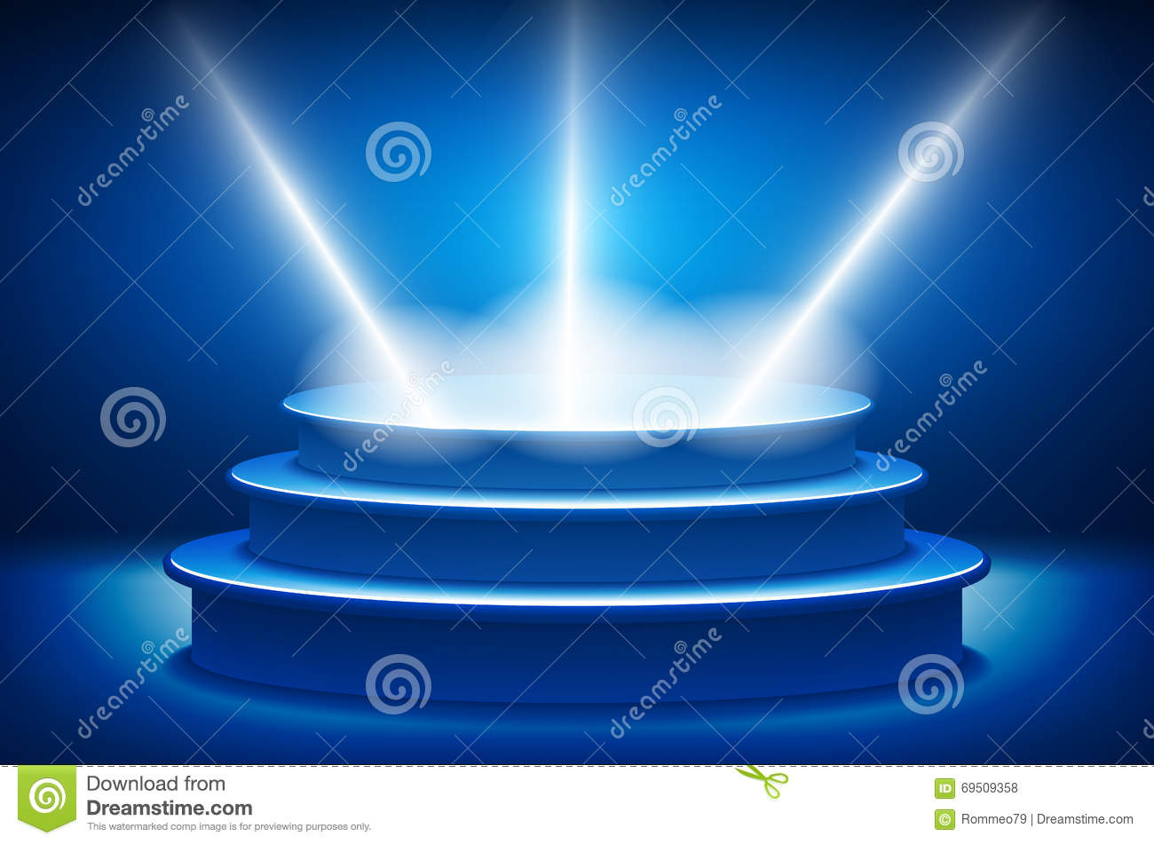 Background With Bright Blue Lights Cartoon Vector