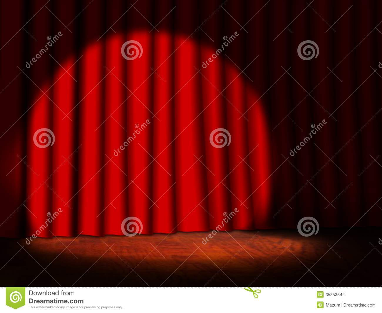 Stage curtains spotlight - Curtains Empty Red Spotlight Stage