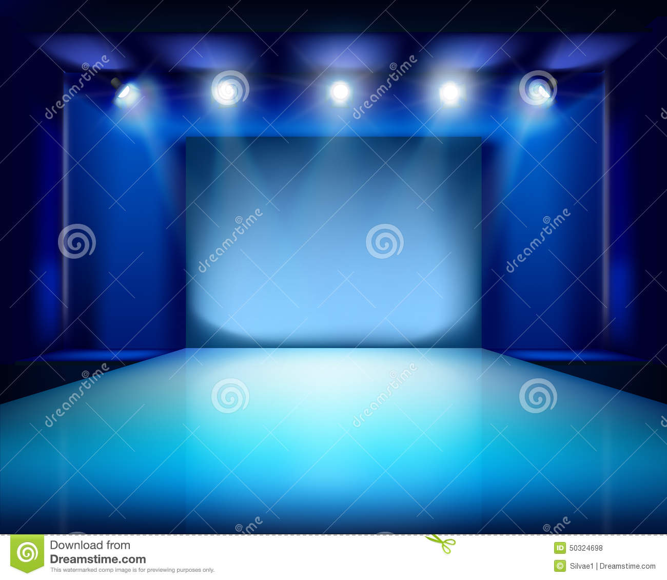 Empty Stage  Vector Il...