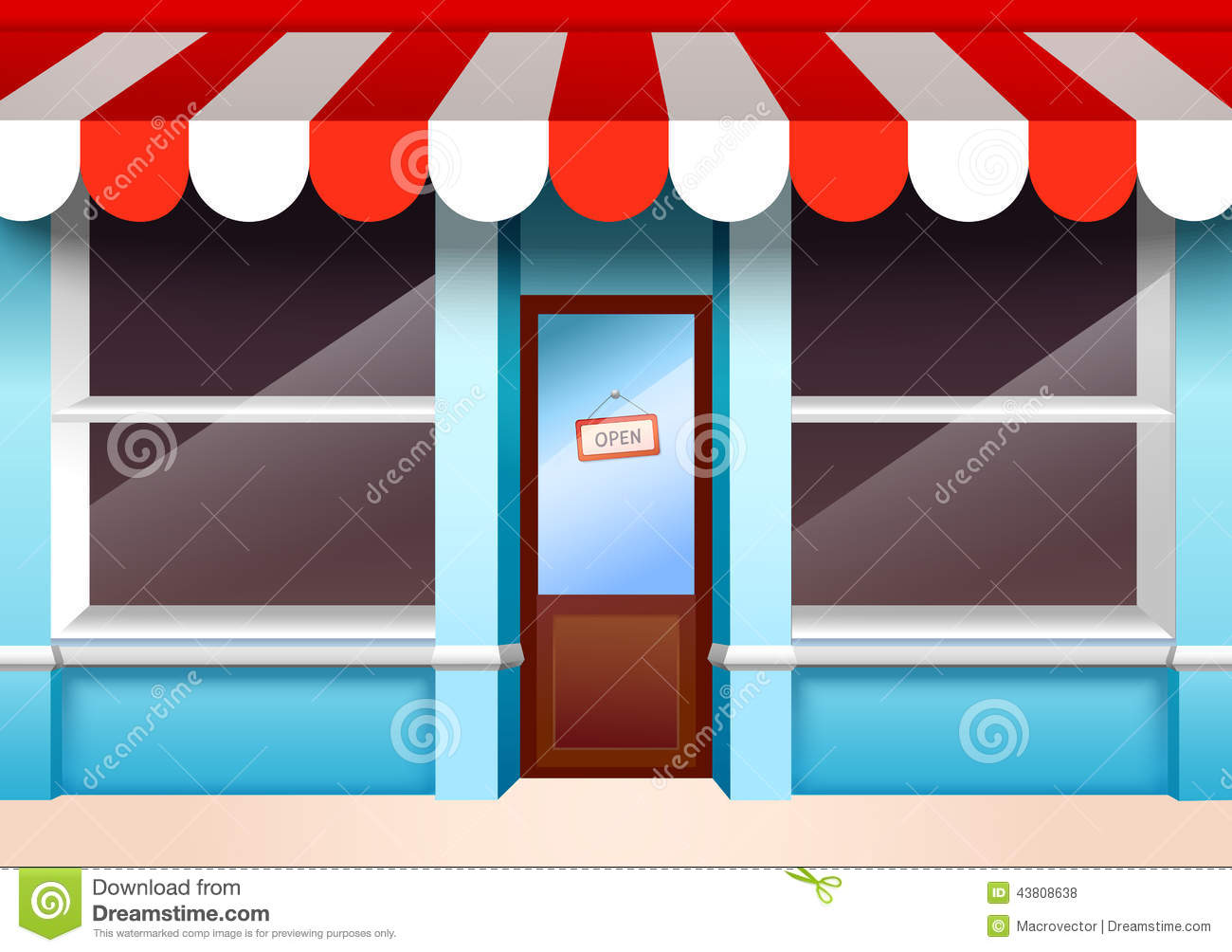 Empty Store Front Stock Vector Image 43808638